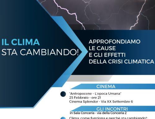 CICLO DI INCONTRI SULLE CAUSE E GLI EFFETTI DELLA CRISI CLIMATICA A CHIERI